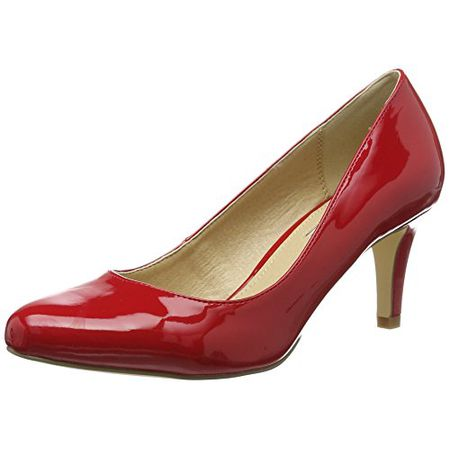 Buffalo Shoes Damen C404A 1 P2010L Patent Pumps, Rot (Red), 40 EU