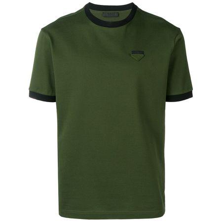 82c17ef933c23 Prada T-Shirt mit Logo-Patch - Grün