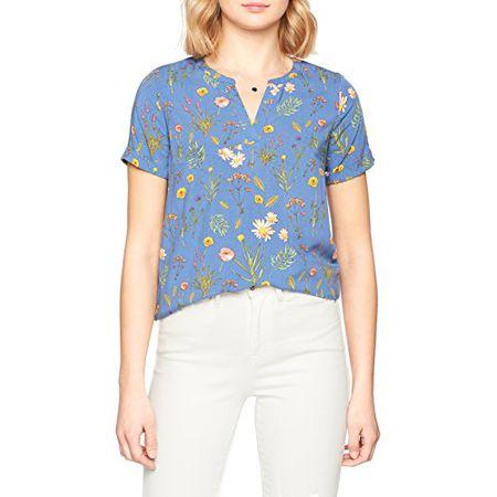 aeb646fce0953 TOM TAILOR Damen Bluse Casual Blouse Shirt, Blau (Celestial Blue 2 6489),