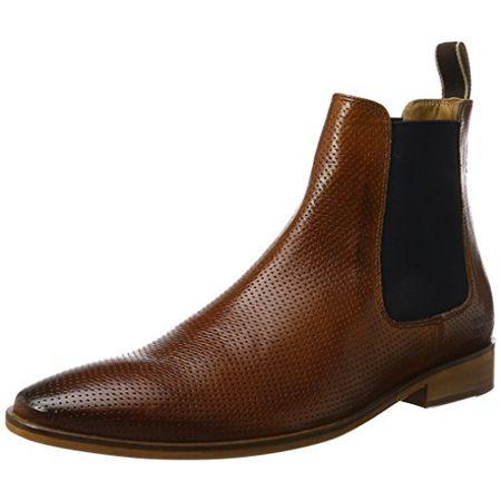 Melvin & Hamilton Herren Daniel 7 Chelsea Boots, Braun (Venice Perfo Wood Ela. Navy LS Nat.), 44 EU