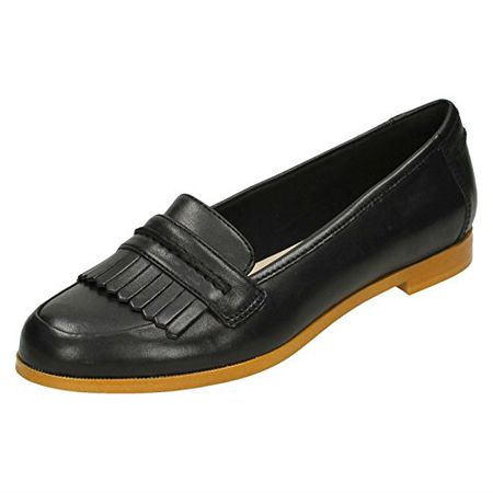 Clarks Damen Modern Elegant Andora Crush Leder Halbschuhe Schwarz Größe 38