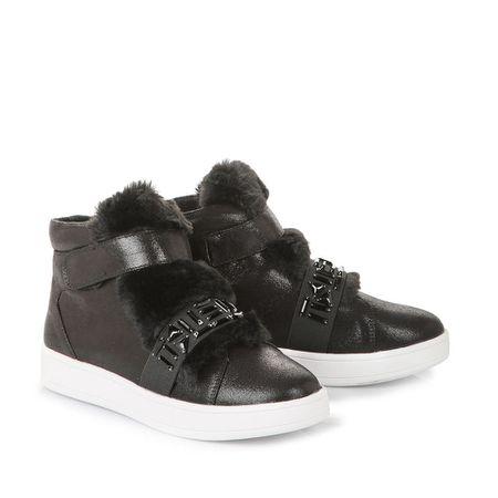 brand new 9f0b4 f38d0 Buffalo Lifestyle Sneaker in schwarz mit großen Strasssteinen