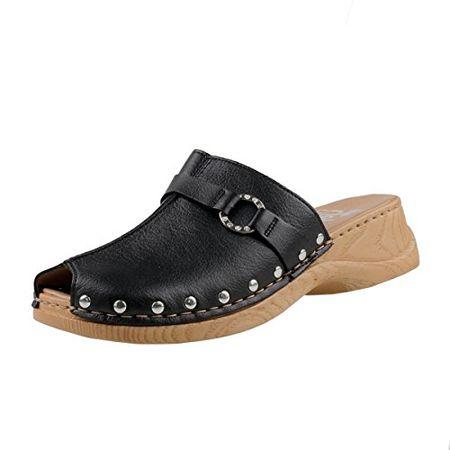 Rieker Damen Pantoletten Schwarz, Schuhgröße:EUR 41