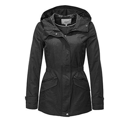 Only Damen Übergangsjacke Parka Jacke Kapuzenjacke Spring Jacket SALE /%