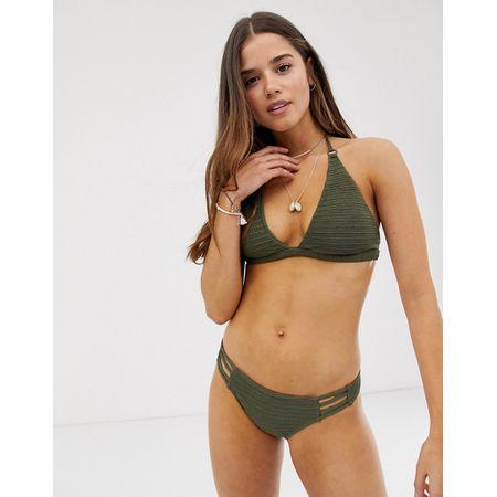 62d11717c7fae Billabong - No Hurry - Hoher Triangel-Bikini - Grün