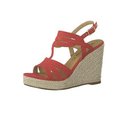 Damen Tamaris 22 Lipstick Wedge Klassische Sandals Rot Platform 1 Sandaletten Sandalen 515 28372 jLqzSUVpGM