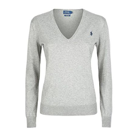 the latest 75121 b45df Polo Ralph Lauren Damen Pullover Eloise Pima Cotton Hellgrau (S)