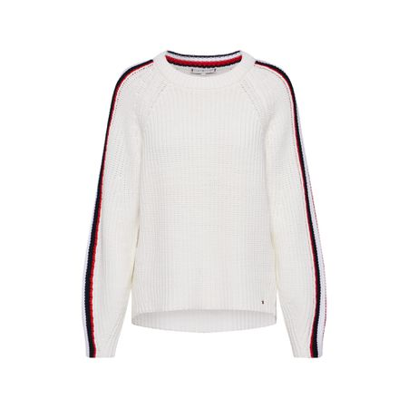 TOMMY HILFIGER Pullover ' ESSENTIAL CHUNKY' ecru