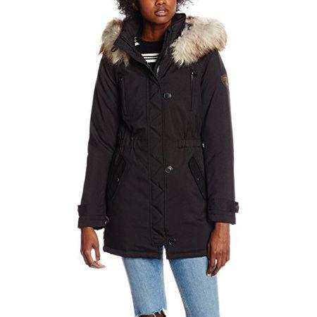 996203a7605b7e ONLY Damen Mantel Onlsiri Parka Otw, Schwarz (Black), 36 (Herstellergröße: