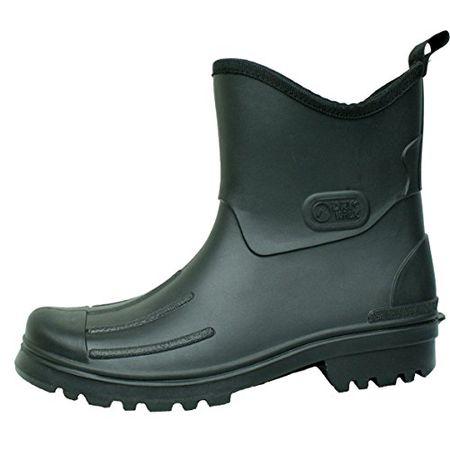 Bockstiegel Peter Herren Gummmistiefeletten PVC Stiefel Schwarz Schuhe in Übergrößen, Größe:46