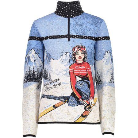 CMP Shirt ' Knitted Print ' mischfarben