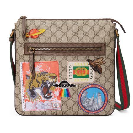 d84b52e54f015 Gucci Courrier Umhängetasche aus weichem GG Supreme