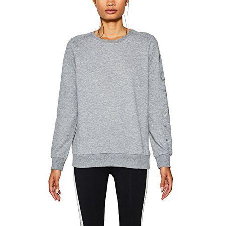 ESPRIT Sports Damen Sportsweatshirt 077EI1J010 mit Logo, Grau (Medium Grey 2 036), 40 (Herstellergröße: L)