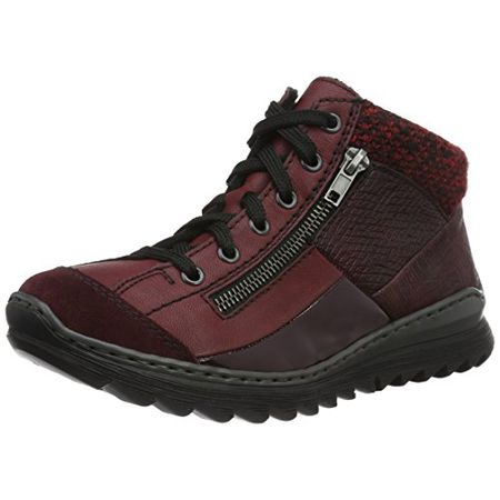 Boots RIEKER Z8753 35 Rot Kombi Boots High boots and