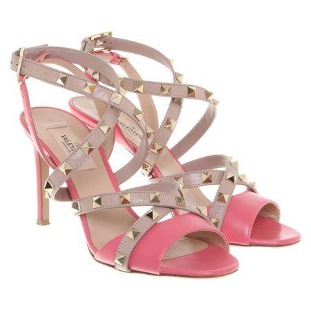 the best attitude 2237f 702d7 Valentino Sandalen aus Leder in Rosa / Pink