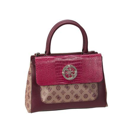 Guess Handtasche Magnolia Society Satchel Handtaschen bordeaux Damen