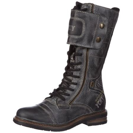 Yellow Cab SOLDIER W, Damen Combat Boots, Schwarz (Black), 36 EU