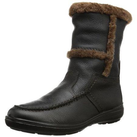 Jomos Damen Schuhe Stiefel Leder Lammfell Braun Weite H Art
