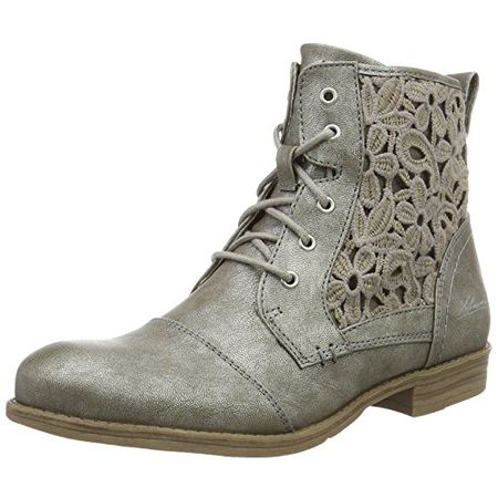 buy online 3a6d8 92320 Mustang Damen 1157-546-258 Combat Boots, Grau (258 Titan), 39 EU