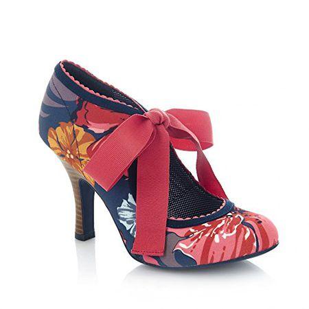 89559a57c9fa4 Ruby Shoo Damen Pumps Willow Florale Schleifen Schuhe Mehrfarbig  Geschlossen 39