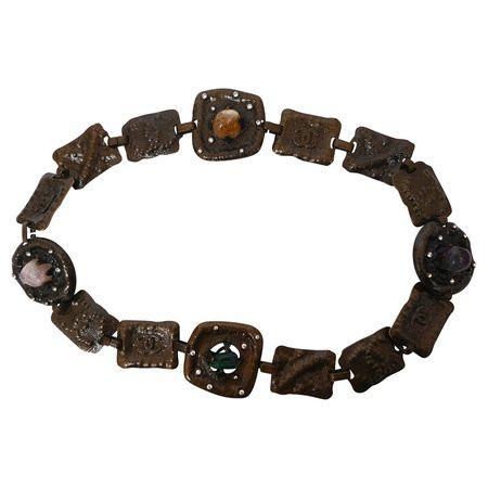 bbe8ce32a8f1f Chanel Metallgürtel mit Halbedelsteinen