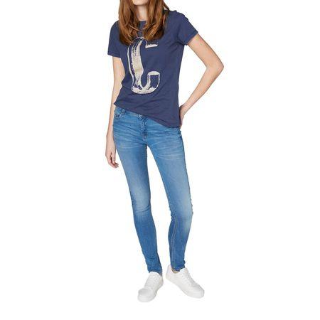 d896be4cd4ae0b Colorado Denim Lana - Skinny Jeans in hellblau mit Crinkle Optik