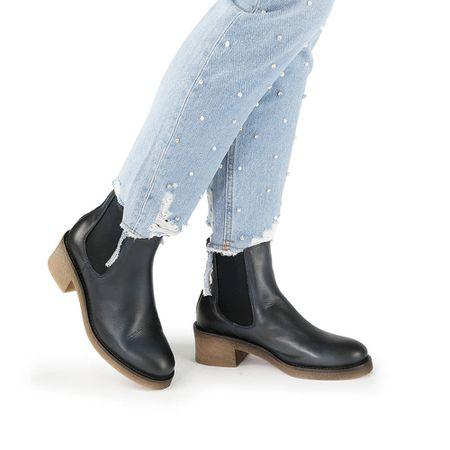 a9bb18af75158b Buffalo Chelsea-Boots in dunkelblau mit hellbrauner Sohle
