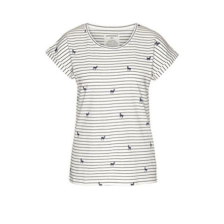 d6c8c9ccf26814 armedangels Damen T-Shirt Aus Bio-Baumwolle - Liv Deers on Stripes - S
