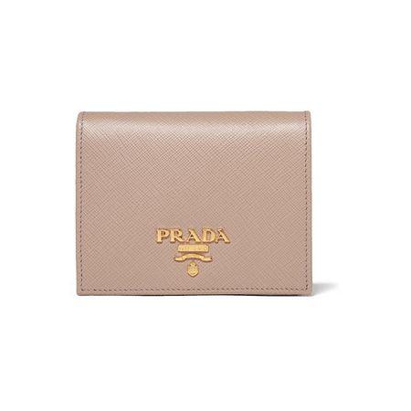 34063a18d40cb Prada - Portemonnaie Aus Strukturiertem Leder - Beige