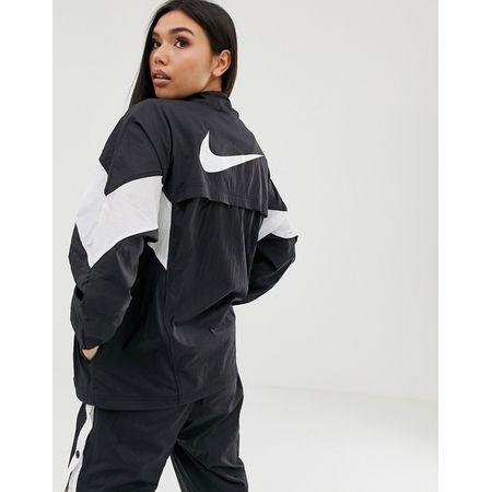 free shipping c57d9 c40b3 Nike - Schwarze Oversize-Trainingsjacke - Schwarz