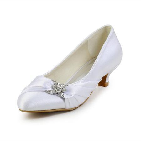 7ed3b396f7f637 Jia Jia Wedding 01121 Hochzeitsschuhe Brautschuhe Damen Pumps weiß