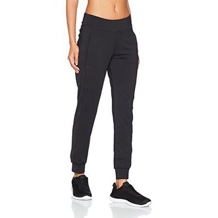 ESPRIT Sports Damen Sporthose 077EI1B003 E Dry m. Logo, Schwarz (Black 001), 42 (Herstellergröße: XL)