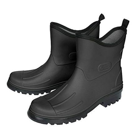 Bockstiegel Peter Herren Gummmistiefeletten PVC Stiefel Schwarz Schuhe in Übergrößen, Größe:42