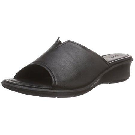 6a09ee682744 Ecco Felicia Sandal, Damen Keilabsatz Geschlossen Sandalen, Schwarz  (BLACK01001), 40 EU