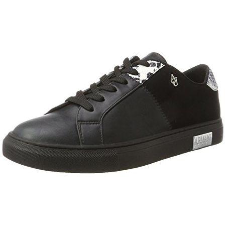 Armani Jeans Damen Sneaker Bassa, Schwarz (Nero), 40 EU 1e127039d5