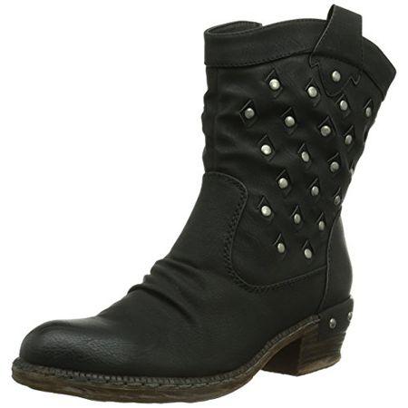Rieker 93678 00, Damen Halbschaft Cowboystiefel, Schwarz (schwarz00), 41 EU (7.5 Damen UK)