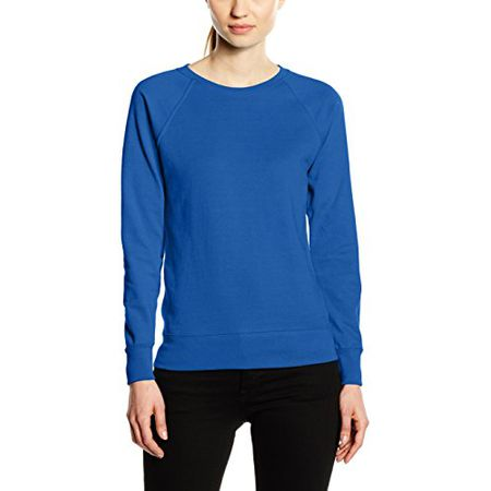 außergewöhnliche Auswahl an Stilen und Farben neuesten Stil von 2019 Großhandelsverkauf Fruit of the Loom Damen Sweatshirt Raglan Lightweight, Blau (Royal Blue),  38 (Hersteller Größe:Medium)