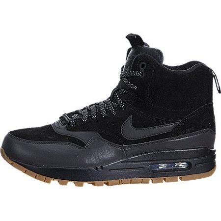 NIKE WMNS Air Max 1 MID SNKRBT Schuhe Damen Sneaker Boots Schwarz685267 003, Größenauswahl:38