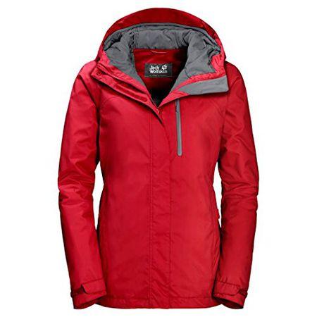 uk availability 76541 8bcbb Jack Wolfskin Damen Jacke Northern Lake rot (500) XXL