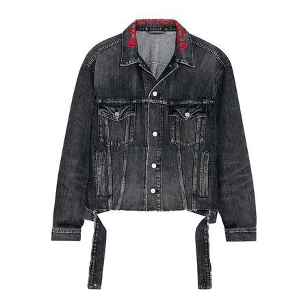 Balenciaga - Bestickte Jeansjacke In Oversized-passform - Schwarz 88bc8932cd