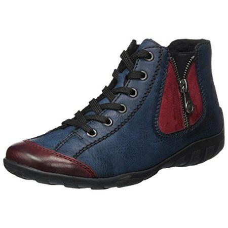 Rieker Damen L5140 Sneakers, Grau (grey whitevapor 40