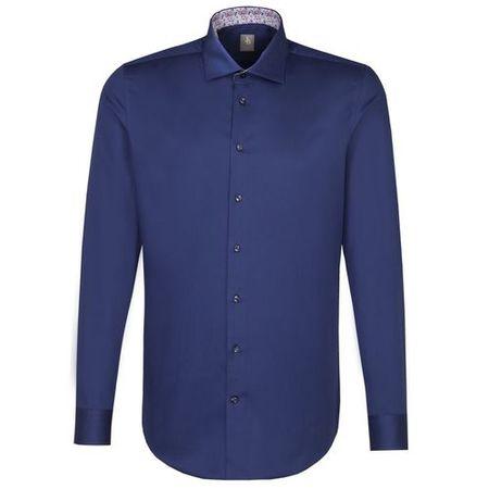 Jacques Britt Business Hemd Slim Fit Langarm Kent-Kragen Uni, dunkelblau,  40  f16cb0fa4d