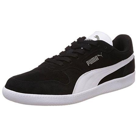 Puma Puma Smash Leather, Unisex Erwachsene Sneaker, Schwarz(BlackWhite), 46 EU