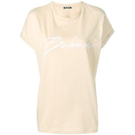 c9d0266aa909de Balmain T-Shirt mit Logo-Print - Nude