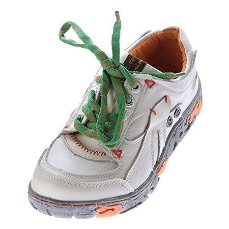 TMA Comfort Damen Sneakers Leder Schuhe Schwarz Grün Weiß