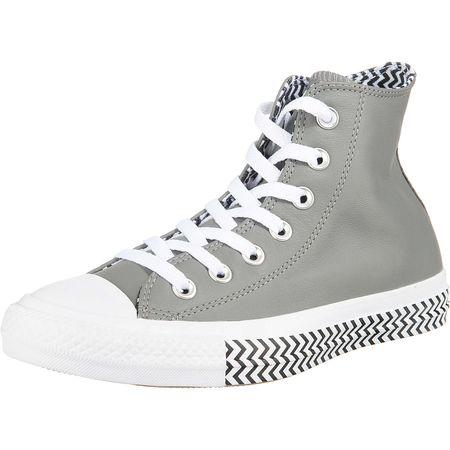 CONVERSE Chuck Taylor All Star Vltg Leather Sneakers High grau Damen