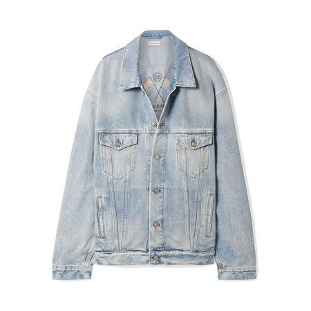 Balenciaga - Bestickte Jeansjacke In Oversized-passform - Blau 081525fea1