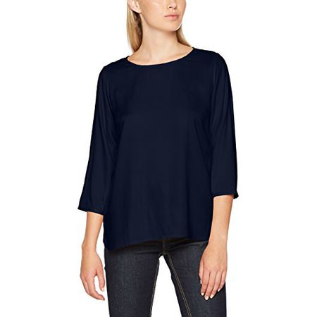 TOM TAILOR Denim Damen Bluse Comfortable Soft Tunic, Blau (Real Navy Blue  6593) 4cccbebe0d