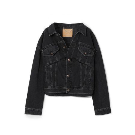 Balenciaga - Oversized-jeansjacke - Schwarz c1172f3534
