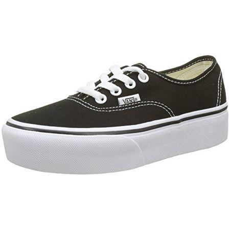Vans Damen Authentic Platform 2.0 Sneaker, Schwarz (Black Blk), 38 EU